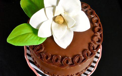 Chocolate Magnolia Cake