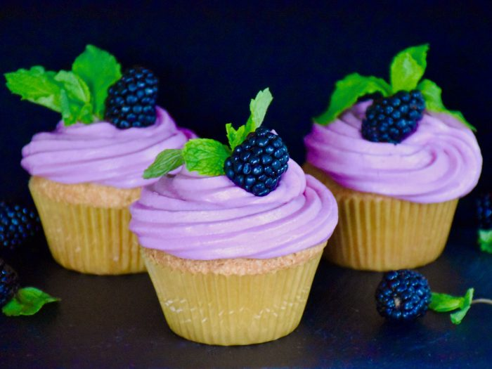 Lemon Cakes Recipe and Blackberry Buttercream Recipe