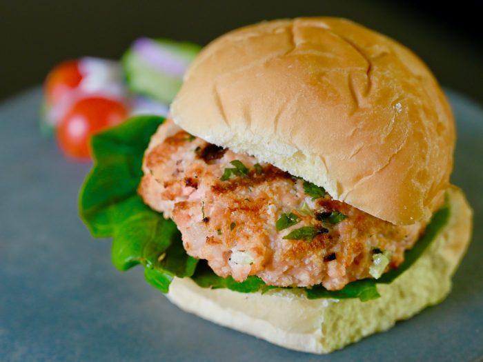 Homemade Salmon Burger